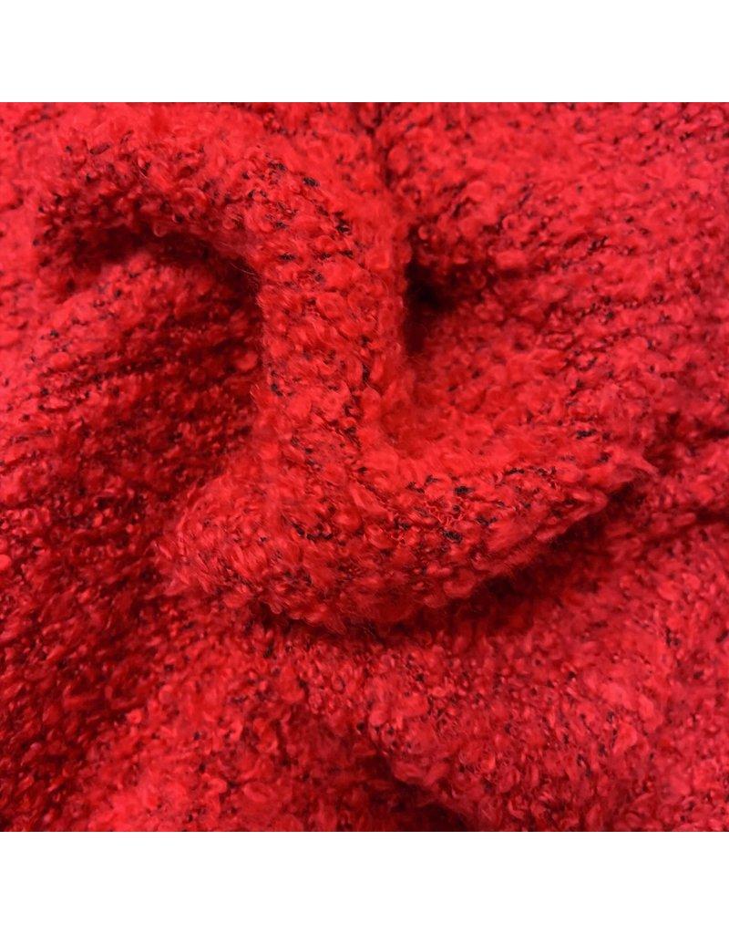 Bouclé Knit BB06 - leuchtend rot