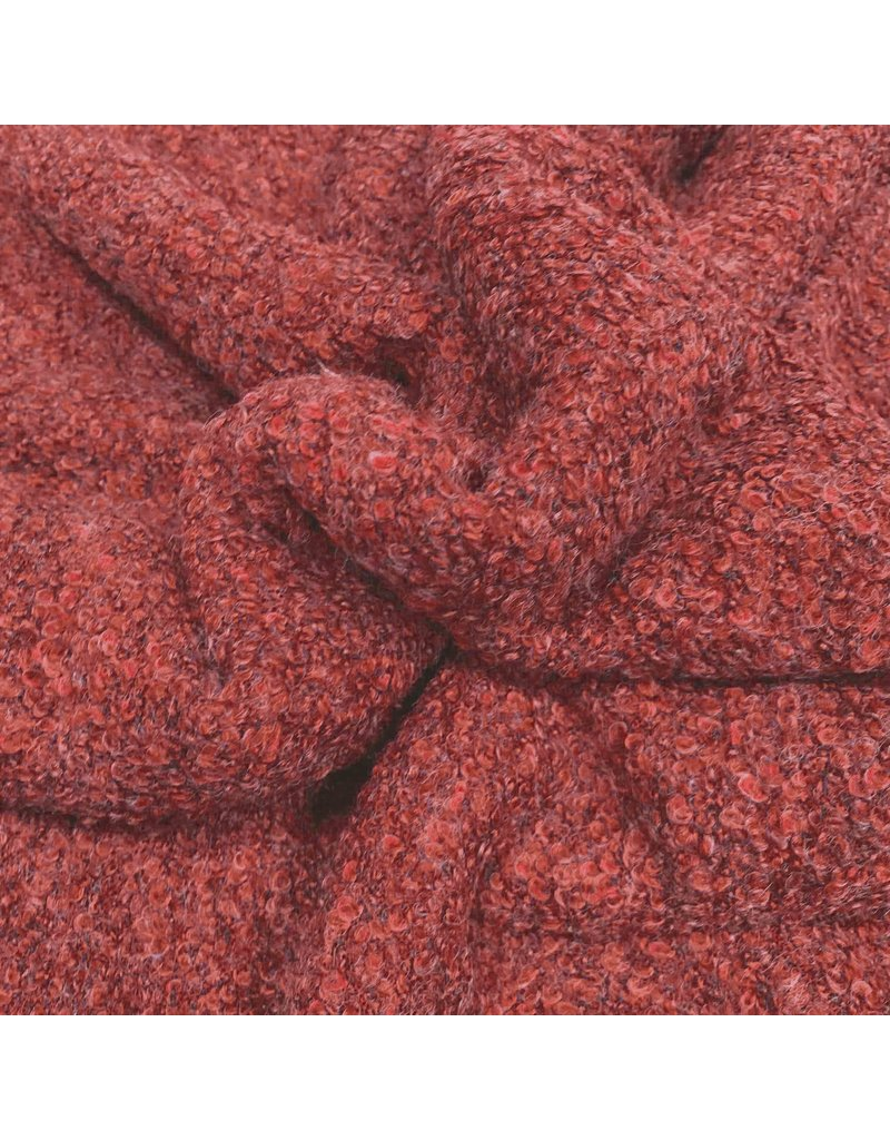 Bouclé Knit BB07 - coral red