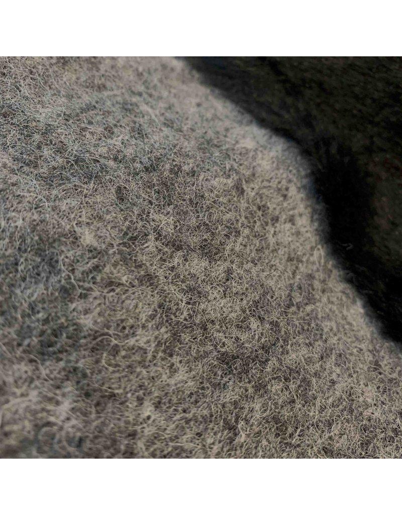 Gekookte Wol W47 - grijs / zwart