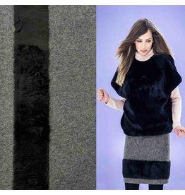 Boiled Wool W47 - gray / black