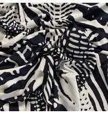 Jersey met reliëf 2683 - donkerblauw/wit