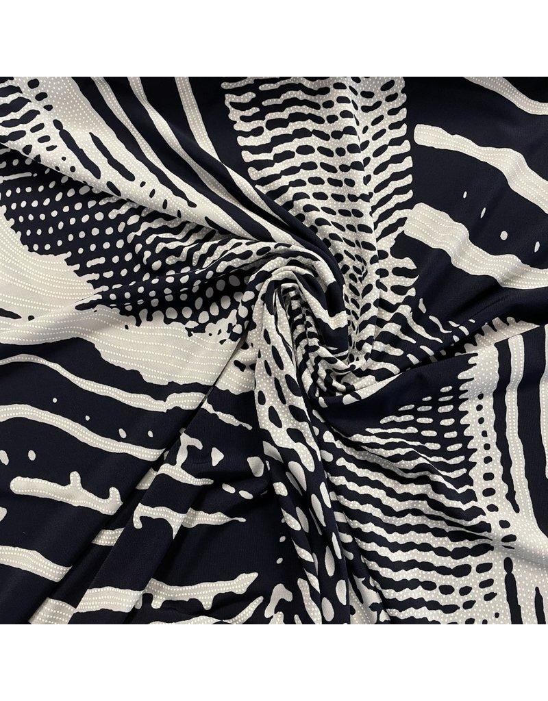 Geprägtes Trikot 2683 - dunkelblau / weiß