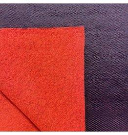 Laine bouillie Uni avec maille W129 - rouge / noir