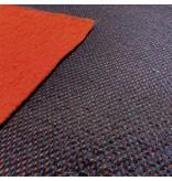 Gekookte Wol Uni met mesh W129 - rood/zwart