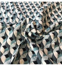 Jacquard tricoté W151 - vert d'eau
