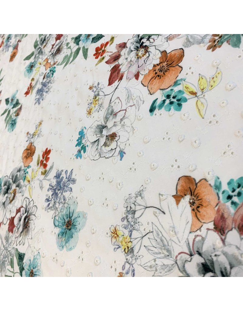 Cotton Cambric Embroidered 3034