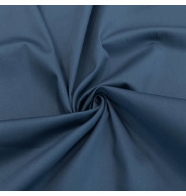 Satin cotton Comfort Stretch SK28 - Steel blue! NEW!