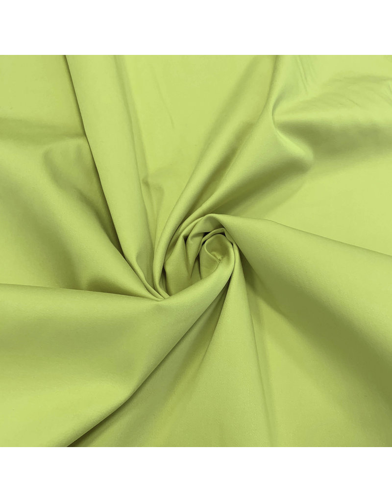 Satijnkatoen Comfort Stretch SK17 - lime groen