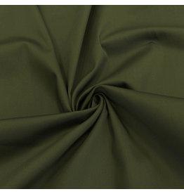 Satin Baumwolle Comfort Stretch SK27 - moosgrün
