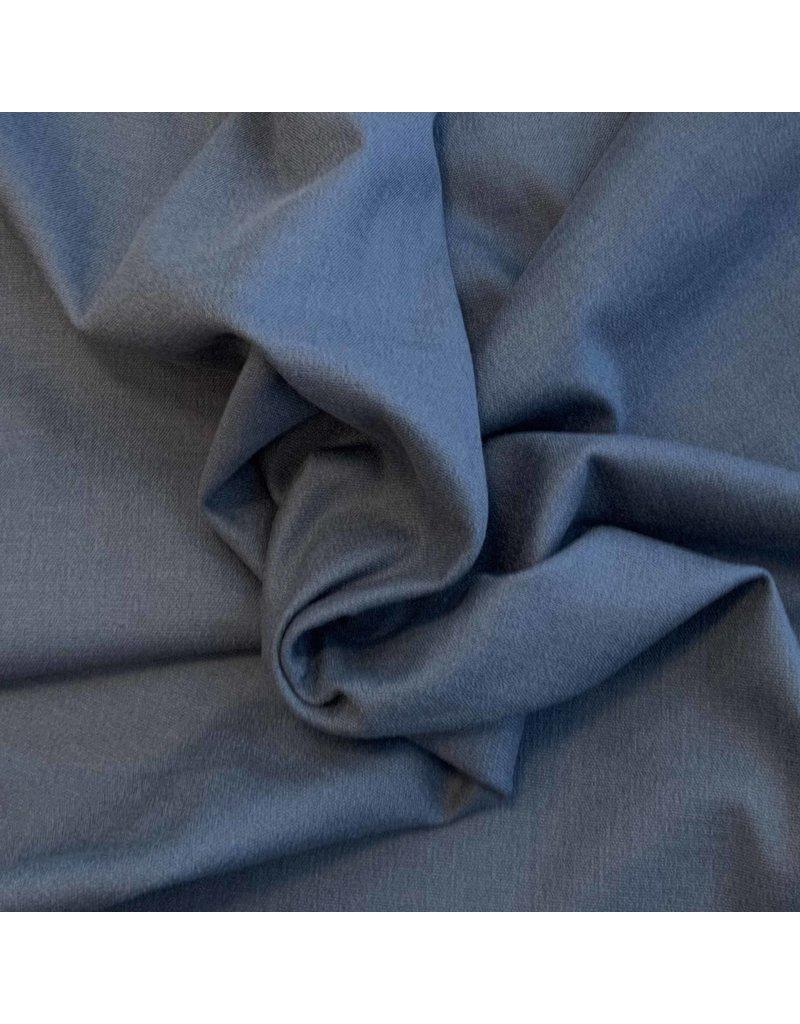 Stretch Leinen L02 - Stahlblau