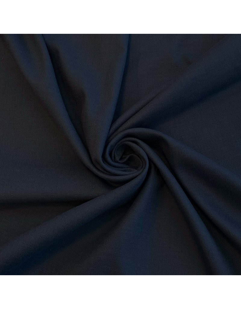 Stretch Linnen L04 - donkerblauw