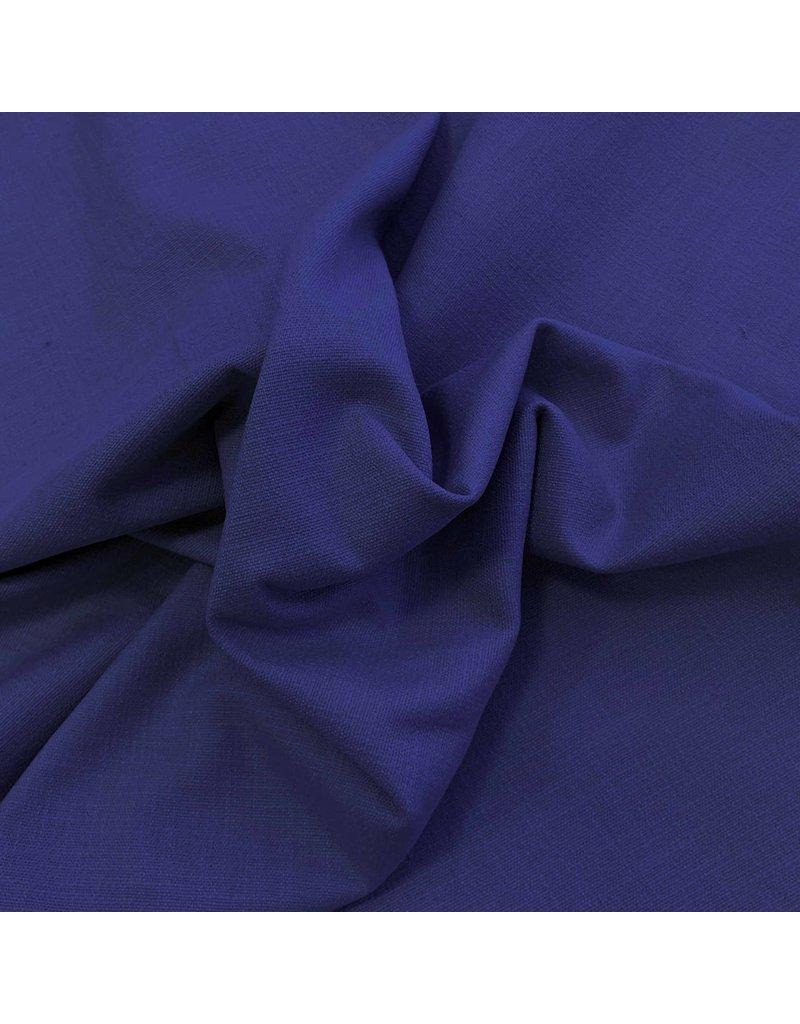 Stretch Leinen L05 - Kobaltblau