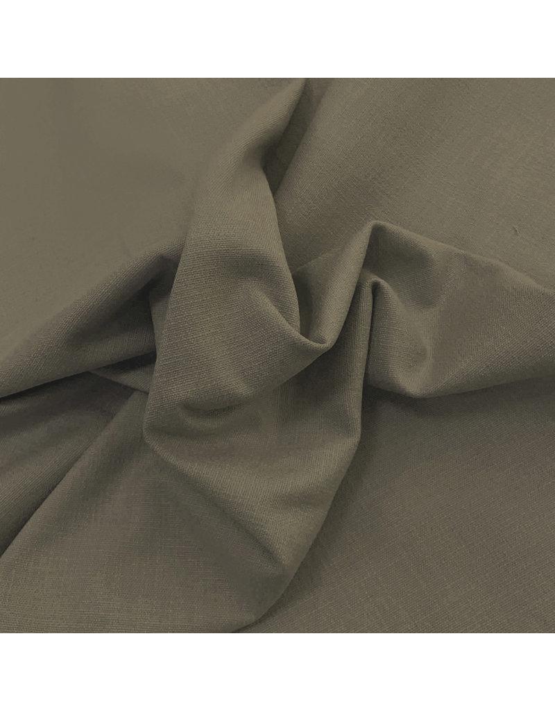 Stretch Leinen L10 - grün / braun