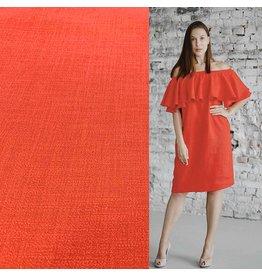 Stretch Linen L22 - bright red