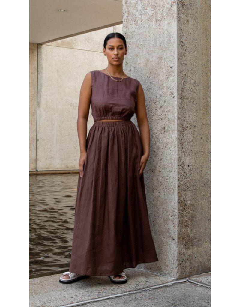 Linen 3071 - brown