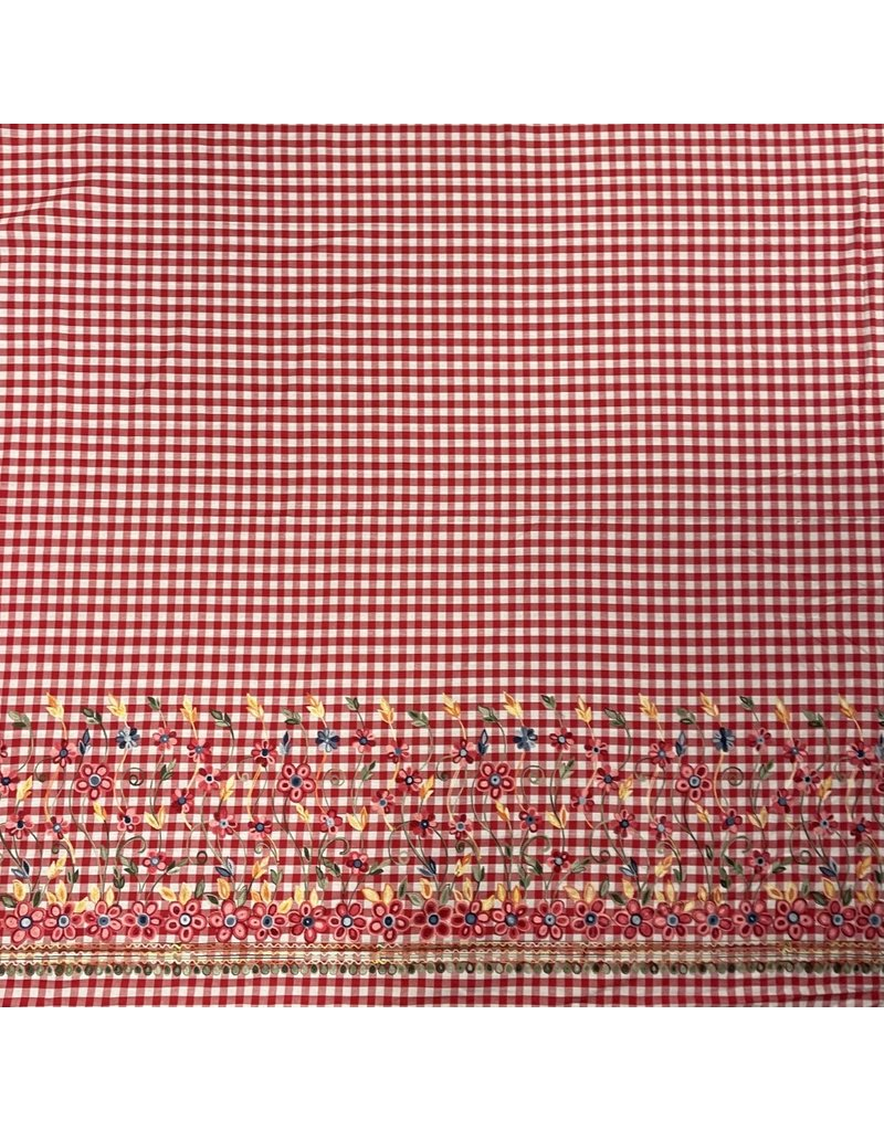 Cotton Cambric Embroidered 3074