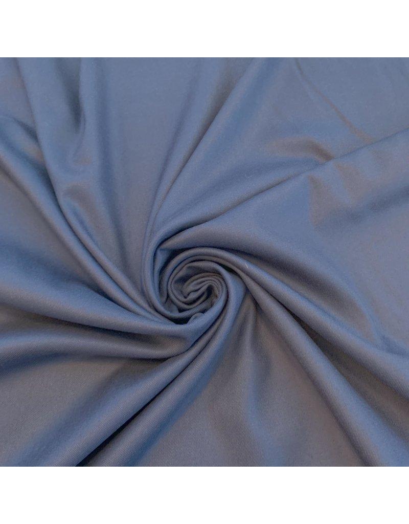 Bamboe Gabardine Stretch - blauw