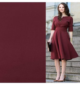 Bamboe Gabardine Stretch BC11 - bordeaux rood - MOUT