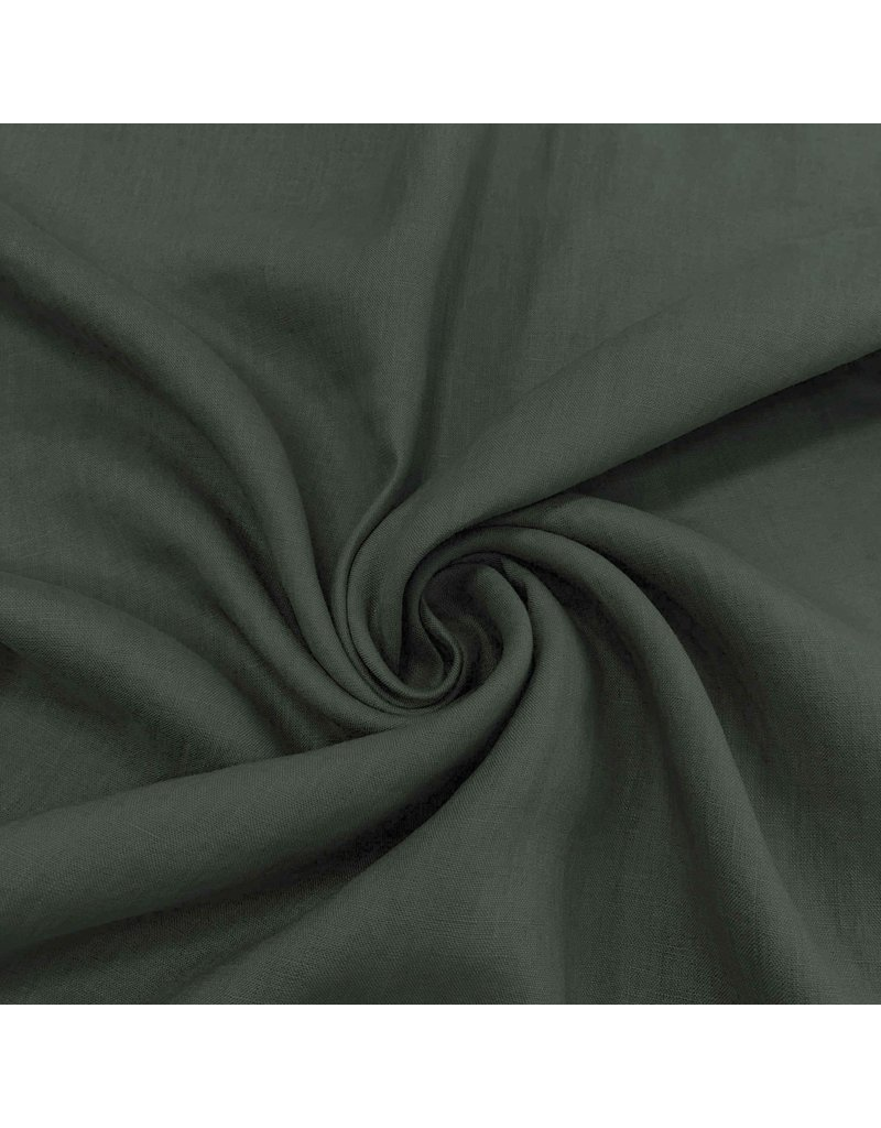 Linen Super Fine LV18 - dark green / gray