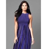 Viscose Polyester Gecrasht 3159- kobalt blauw