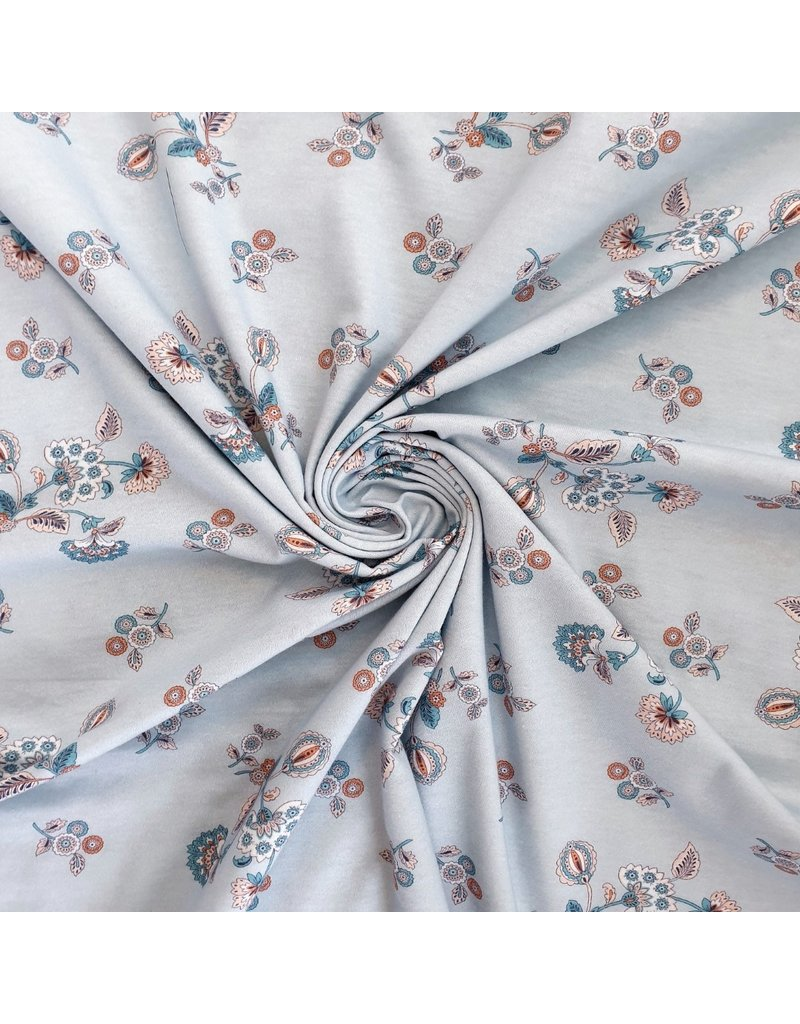 Jersey de coton 2275b - à rayures
