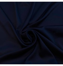 Stretch Zijde SD04 - donker blauw