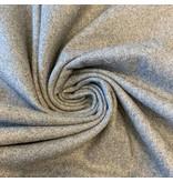 Wollen Mantel Stof KW19 - licht grijs