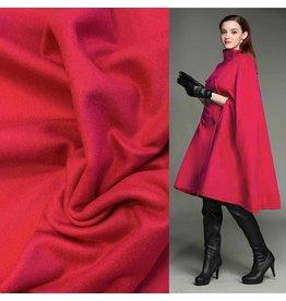 Wool Coat Fabric KW17 - fuchsia