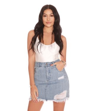 La sisters Mini Denim Skirt Light- Blue