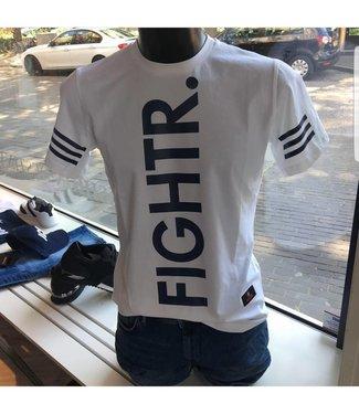 Dean Rich Fightr Shirt White / Blue