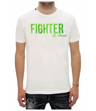 My Brand Fighter white / Green Shirt
