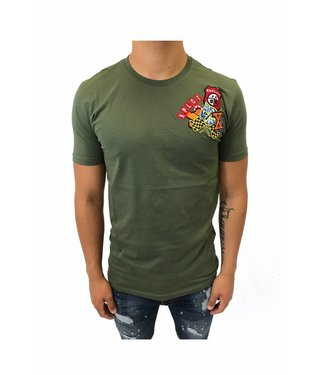 Explicit Patch Shirt Green