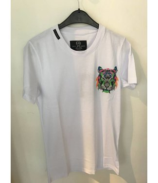 My Brand Neon Logo Tiger White Shirt