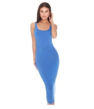 La sisters Basic Scoop Midi Dress Blue