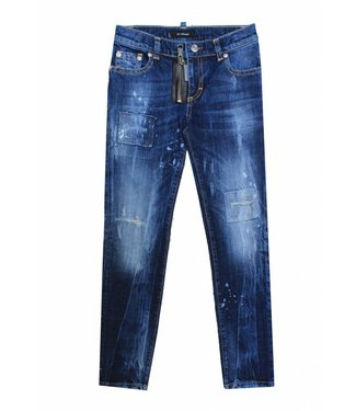 My Brand Pietro Zipper Destroyed Jeans Blue