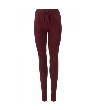 Reinders Twin Set Pants Burgundy Bordeaux