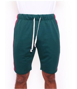 Radical Trackpants Short Dark Green / Red