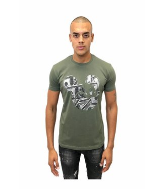 Explicit MICKEY TEE ARMY SHIRT ARMY