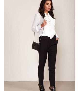 Jacky Luxury Blouse Ruffle Off White