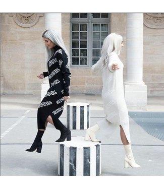Reinders Dress All Over Black / White