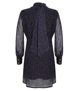 Jacky Luxury Leopard jurk met strikdetail