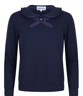 Jacky Luxury Sweater met strik en roezel detail