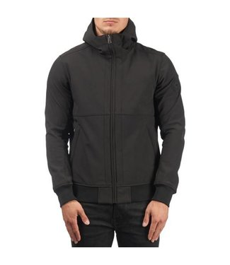 Airforce SOFTSHELL CASUAL HOODED BLACK
