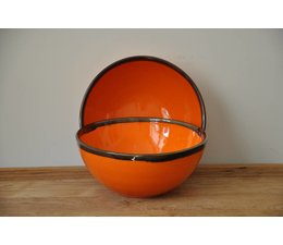 Salade kom oranje van Spaanse keramiek