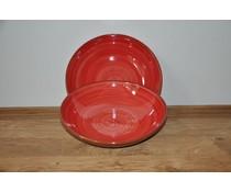 Pasta schaal rood van Spaanse keramiek