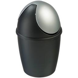 Vepabins Kunststof Tafel Afvalbakje (Zwart / Zilver)