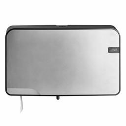 Quartz-Line Quartz-Line  Duo Jumbo Toiletrol Dispenser (Zilver / Zwart)