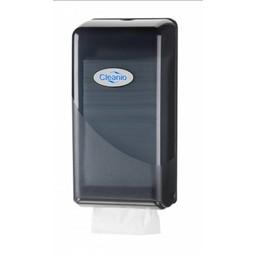 Cleanio Gebruikte Bulkpack Toiletpapier Dispenser (Pearl Black)