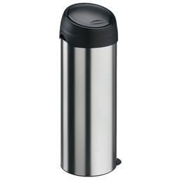 Vepabins Ronde Metalen Afvalbak met Touhdeksel, 40L (RVS)