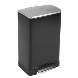 EKO EKO - E-Cube Pedaalemmer, 40L ( Mat Zwart RVS)